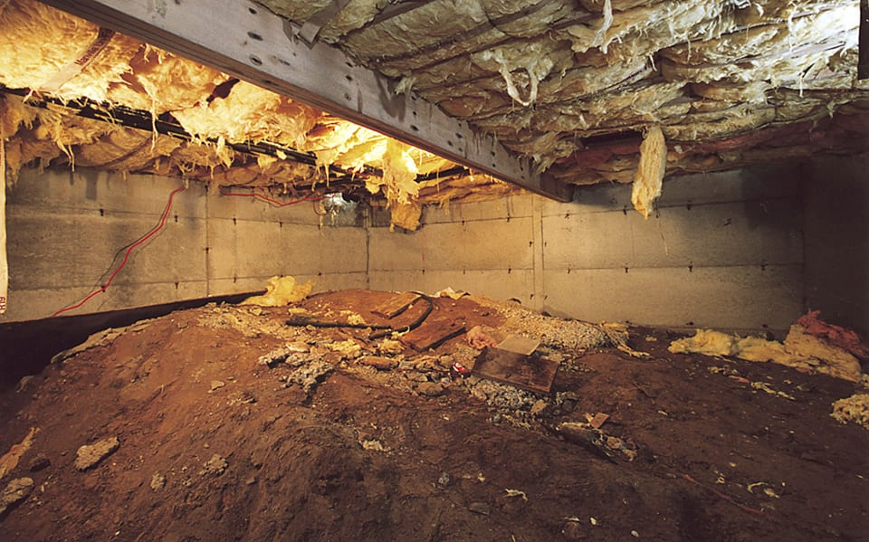 Csbefore foundation repair earthquake retrofitting in for Crawlspace to basement conversion cost