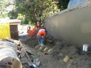 retaining walls construction