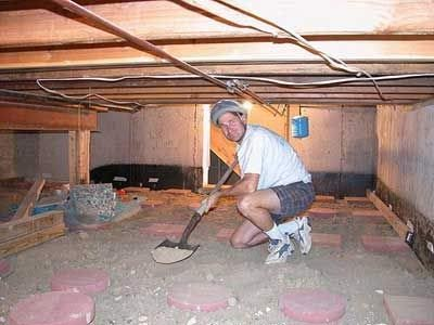 Weinstein retrofitting basement development experts for How to build a crawl space foundation for a house