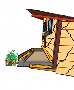 House bolting helps prevent slippage during an earthquake.